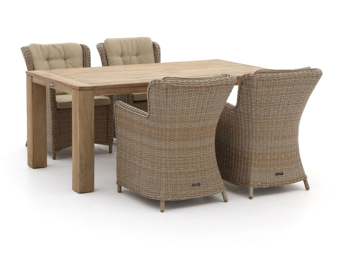 Intenso Milano/ROUGH-X 180cm dining tuinset 5-delig