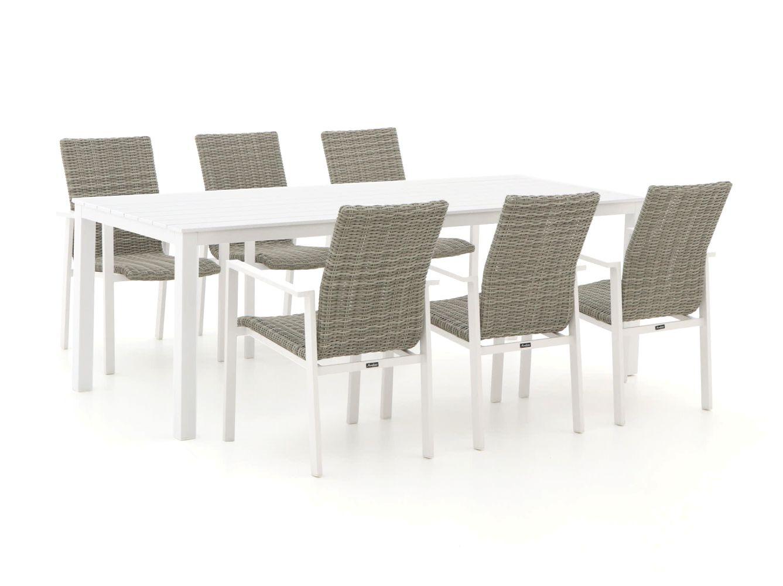 Manifesto Villongo/Menzano 220cm dining tuinset 7-delig stapelbaar