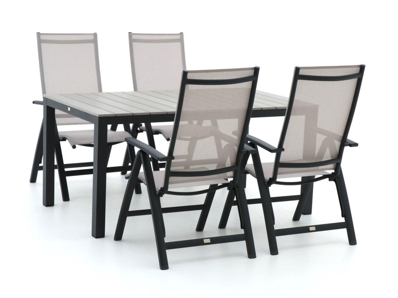 Bellagio Avenza/Fidenza 160cm dining tuinset 5-delig verstelbaar
