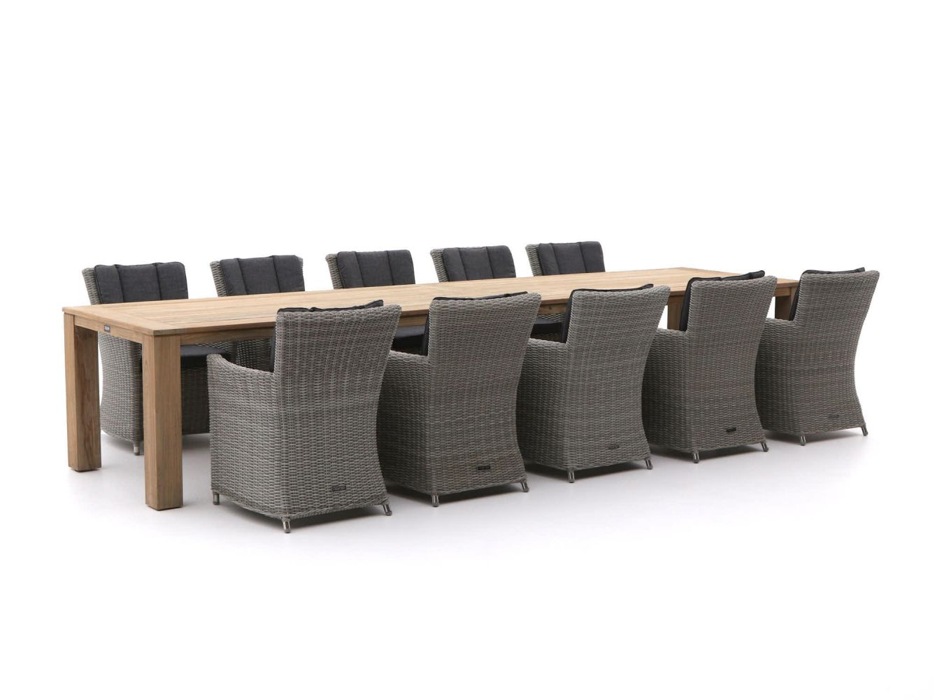 Intenso Adriano/ROUGH-X 400cm dining tuinset 11-delig