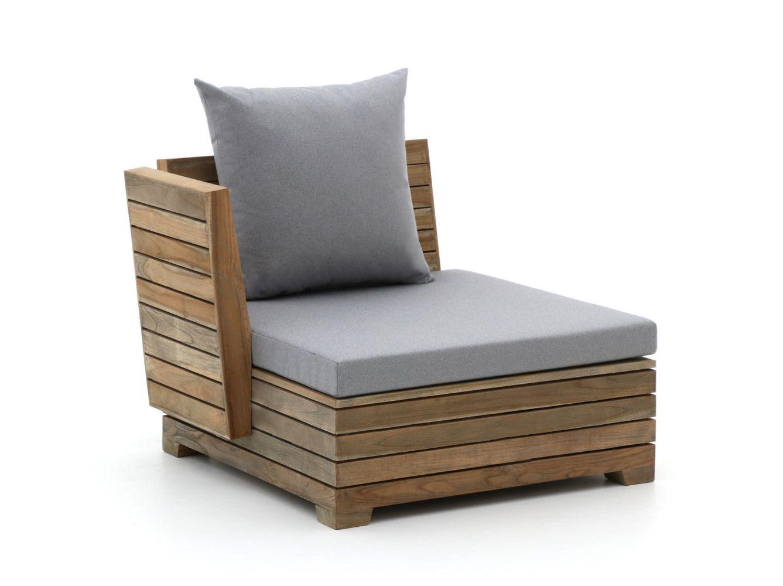 ROUGH-B lounge eindmodule met arm 105cm